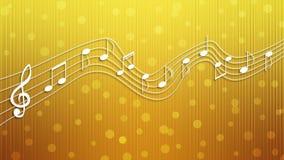 Witte Muzieknota's op Gouden Achtergrond vector illustratie