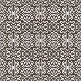 Witte naadloze het patroonachtergrond van het fantasiecontrast Stock Foto