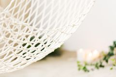 Witte netto hangmat stock afbeelding