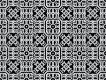 Witte netto op zwarte achtergrond Naadloos patroon Stock Fotografie