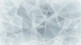 Witte netwerkvorm met lijnen Stock Afbeeldingen