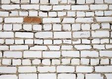 Witte nevelige bakstenen muur voor achtergrond of textuur Stock Afbeelding