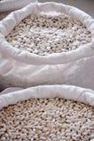 Witte nierboon in zakken Stock Foto's