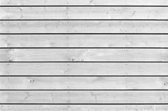 Witte nieuwe houten muur naadloze textuur als achtergrond Stock Afbeeldingen