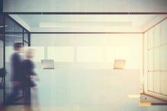 Witte ontvangst, conferentieruimte, glas, mensen Royalty-vrije Stock Afbeeldingen