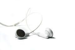 Witte oortelefoons 2 Royalty-vrije Stock Foto's