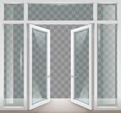 Witte open deuren vector illustratie