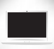 Witte open laptop computer vector illustratie