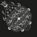 Witte openwork van het bloemenpatroon vector illustratie