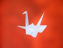 Witte origamikraan royalty-vrije stock afbeelding