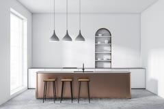 Witte overspannen keuken met bar vector illustratie