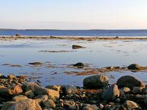 Witte overzeese kust Royalty-vrije Stock Foto's