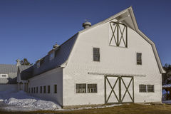Witte paardschuur in Vermont royalty-vrije stock fotografie