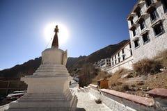 Witte pagode van Drepung-Klooster Royalty-vrije Stock Afbeeldingen