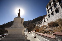 Witte pagode van Drepung-Klooster Royalty-vrije Stock Afbeelding