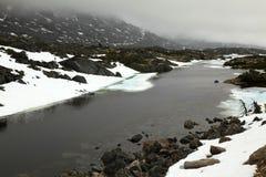 Witte Pas & Route Yukon royalty-vrije stock foto's