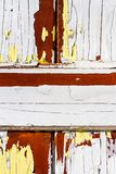 Witte peelinverf stock foto