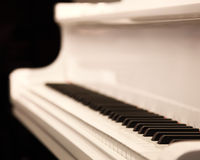 Witte piano Royalty-vrije Stock Foto