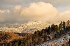 Witte pieken in de zonsondergang Royalty-vrije Stock Foto