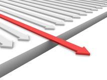 Witte Pijlen Één Rood Stock Afbeeldingen