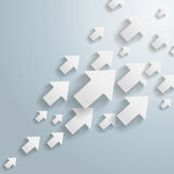 Witte Pijlen Royalty-vrije Stock Foto's