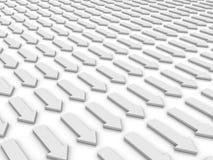 Witte pijlen Stock Afbeeldingen
