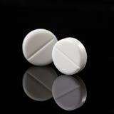 Witte pillen Stock Afbeelding