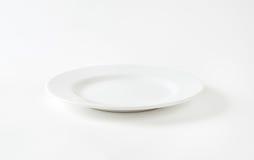 Witte plaat stock foto