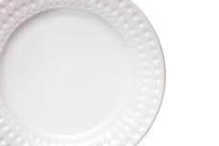 Witte plaat Stock Foto's