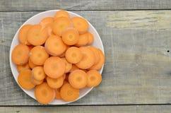 Witte plaat met beste voedsel voor ogenwortelen Stock Foto's