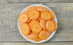 Witte plaat met het beste voedsel voor de ogenwortelen Royalty-vrije Stock Foto