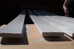 Witte planken Royalty-vrije Stock Fotografie