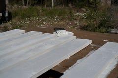 Witte planken Royalty-vrije Stock Afbeeldingen