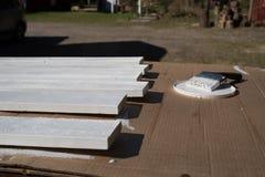 Witte planken Stock Foto