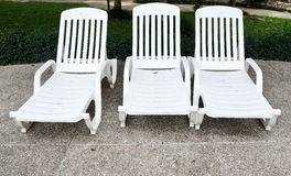 Witte plastic bedden Royalty-vrije Stock Foto