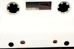 Witte plastic cassettedekking met gaten Royalty-vrije Stock Foto