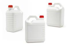 Witte plastic containers Royalty-vrije Stock Afbeeldingen