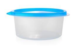 Witte plastic doos met blauwe cabine Royalty-vrije Stock Afbeelding