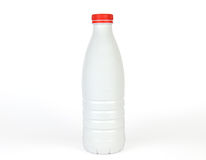 Witte plastic fles Royalty-vrije Stock Afbeelding