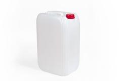 Witte Plastic Jerrycan Royalty-vrije Stock Foto's
