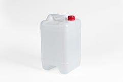 Witte Plastic Jerrycan Royalty-vrije Stock Fotografie