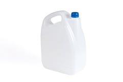 Witte Plastic Jerrycan Stock Fotografie