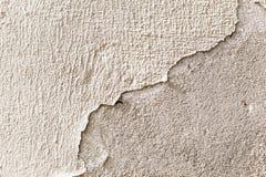 Witte pleisterschil van een muur, grunge textuur Stock Foto