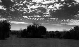 Witte pluizige wolken Royalty-vrije Stock Foto's