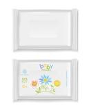 Witte polimerpakketten Royalty-vrije Stock Foto's