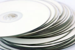 Witte Printable Cds Stock Fotografie
