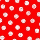 Witte punten op rood Royalty-vrije Stock Fotografie