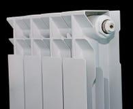 Witte radiator op zwarte achtergrond Royalty-vrije Stock Afbeeldingen