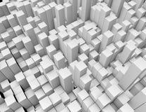 Witte rechthoekige vormen royalty-vrije stock foto's