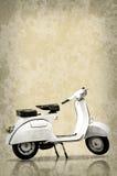 Witte retro autoped Royalty-vrije Stock Foto's